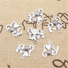 Supplies For Jewelry Accessori  I Love Golf Charms Antique Silver Color 30pcs 19x21mm