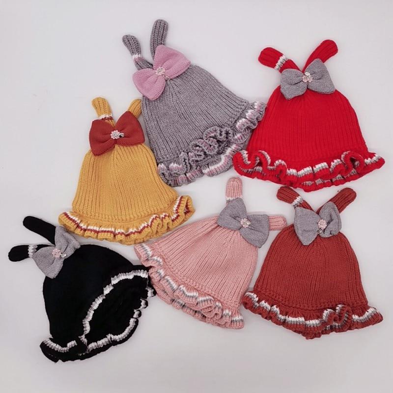 Recién llegado bebé niña niño sombrero de invierno Bebé suave cálido gorro boina de punto sombreros niños Casual cálido gorra HJH