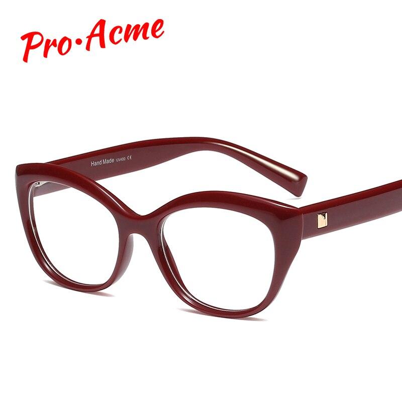 Pro Acme moda montura de gafas de Ojos de gato para mujeres señoras gafas de cristal transparente unisex gafas de ordenador PC1287