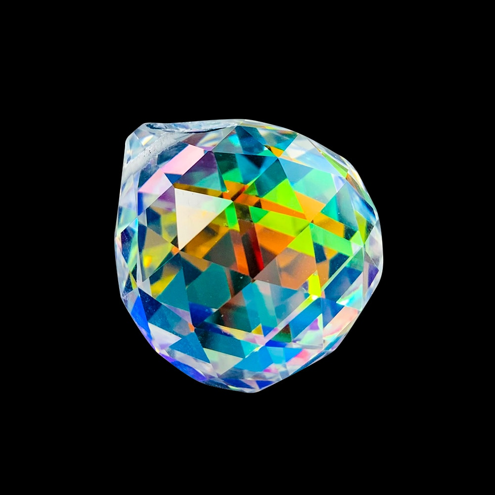 AliExpress - 30MM AB Crystals Glass Ball Shinning Prism Suncatcher Rainbow Maker Faceted Pendant Chandelier Accessories Spare Part Home Decor