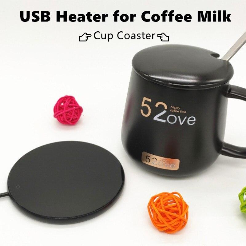 USB-подогреватель для чашек с индикасветильник выключателем, 55 ℃, подогреватель кружки Pad, портативный подогреватель кофе для дома и офиса
