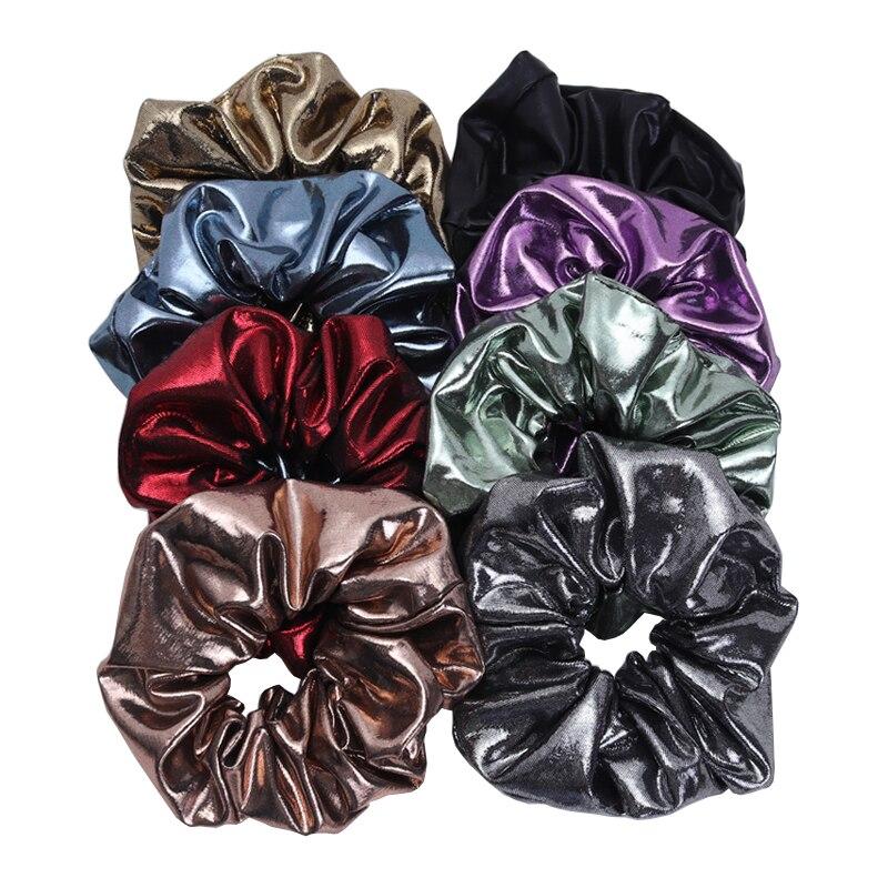 2Piece New Shinny Women Hair Scrunchies Korea Design Elastic Hair Bands Girls Ponytail Hair Holder Fashion Hair Accessories Gift