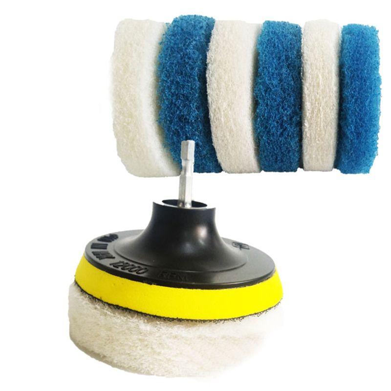 Escova de broca elétrica esfrega o purificador da rotação da almofada para a pia da telha água do ponto da fibra de vidro da banheira do assoalho do vinil banheiro