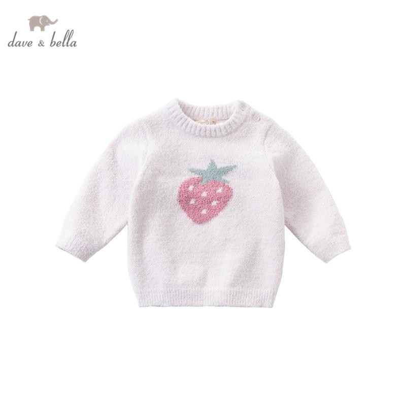 DB16320 dave bella, Зимний Рождественский вязаный свитер с рисунком для маленьких девочек, модные эксклюзивные топы для малышей|Свитера| | АлиЭкспресс