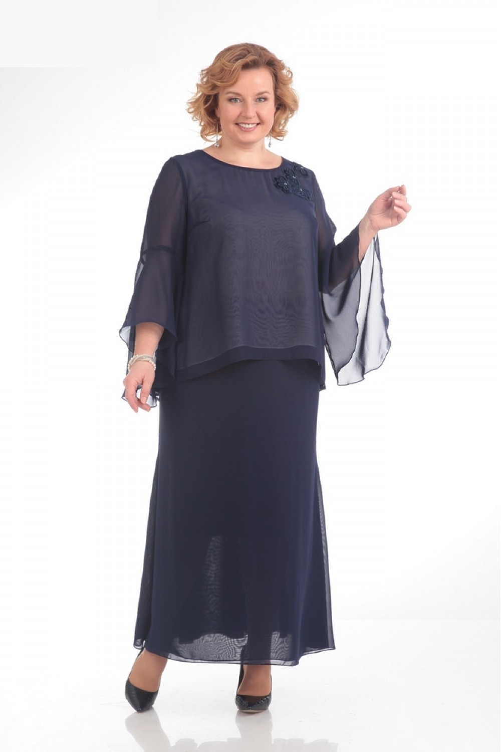 Mother of the Bride Dresses Plus Size Half Sleeves Groom Wedding Floor Length Pleated Chiffon Abito Mamma Sposa 2021 Party Gowns