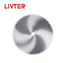 Mini lame de scie circulaire à métaux 125 mm HSS acier rapide 60 dents disques de roue 16mm pour outil de coupe en aluminium bois