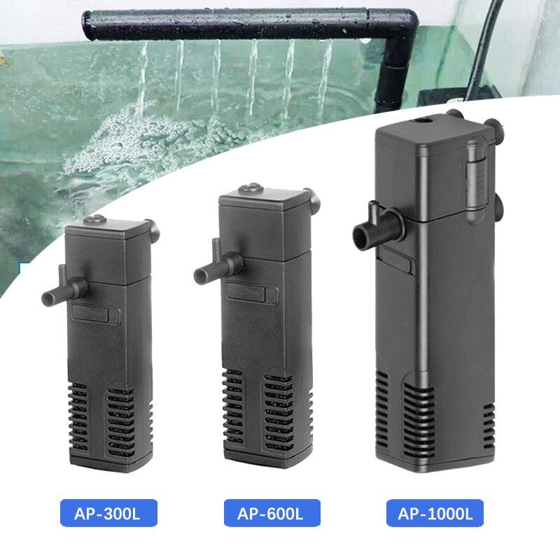 Filtro de acuario sumergible, filtros internos de potencia para tanque de peces, bomba de filtro 3 en 1, flujo de pulverización biológico 3W/4W/8W/22W #4
