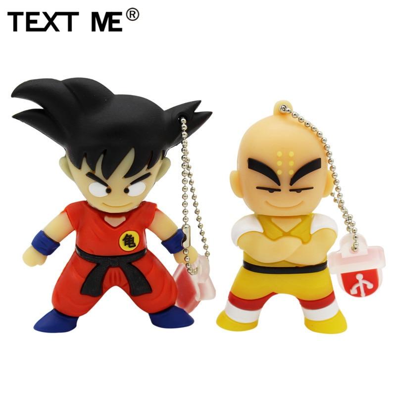 TEXT ME pen drive 4GB 8GB 32GB 64GB cartoon Dragon Ball Goku Kuririn pendrive 16gb usb flash drive