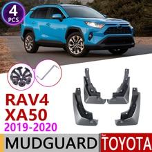 4 pièces Avant Arrière Voiture Bavette pour Toyota RAV4 XA50 50 2019 ~ 2020 Garde-Boue garde-boue Garde Splash Rabat Garde-Boue Accessoires RAV 4