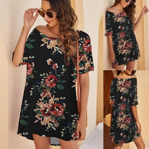 Dress Women Dresses Summer Off Shoulder Tshirts Dresses Short Sleeve Loose Short Dress Платья Femme Robe Vestidos Платье 2021