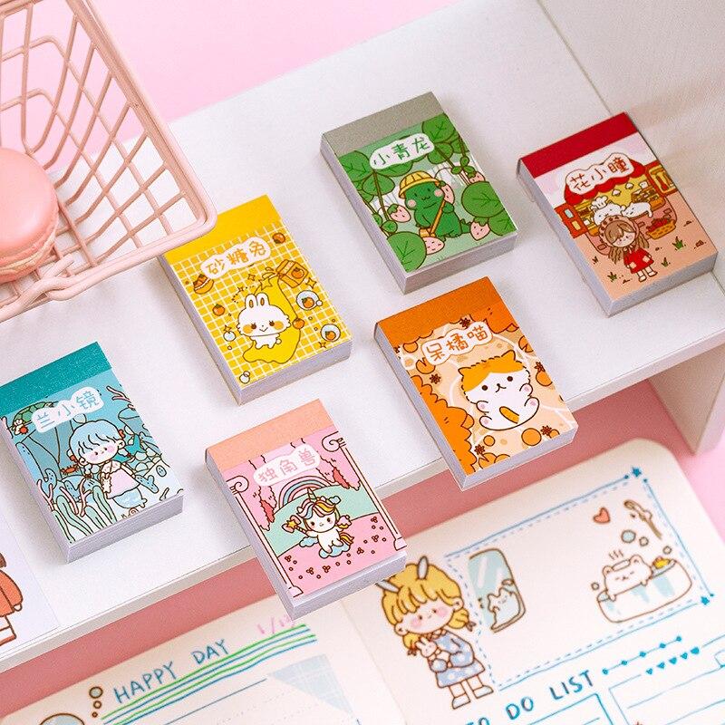 50 hojas/1 lote de pegatinas Kawaii de papelería, pegatinas Doudou para libro, pegatinas decorativas para móviles, pegatinas artesanales DIY para álbum de recortes