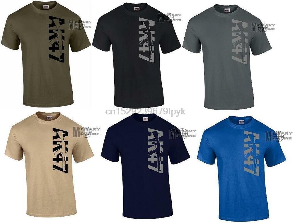 AK-47 camiseta todas as cores logotipo rifle gun tamanho smlxl.2xl3xl4xl5xl 100% algodão