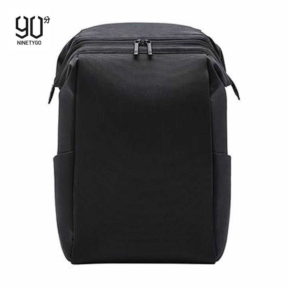 90FUN الأسود الأعمال الرجال الظهر بسيطة وخفيفة محمول حقيبة ل 15.6 بوصة مع مكافحة سرقة سستة السفر دروبشيبينغ