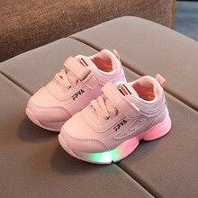 Lumineux enfants chaussures pour filles garçons led sport bébé baskets tenis lumonous décontracté plat course éclairé enfant en bas âge enfants baskets