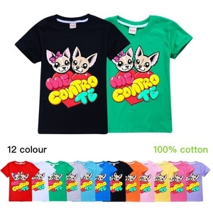 Summer 3-12 Year Toddler Boys Girls Tops T-Shirts  Me Contro Te Print Children Short Sleeve Kids Clothes