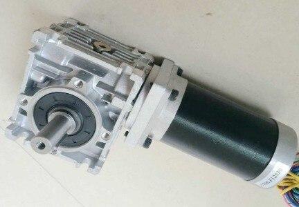 NEMA 23 دودة المخفض فرش موتور تيار مباشر 24 فولت 3000 دورة في الدقيقة 125 واط نسبة والعتاد 5:1-100:1