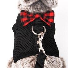 Nouveau lapin Hamster gilet harnais S/M/L avec laisse lapin maille poitrine sangle harnais Ferret cochon dinde petits animaux accessoire pour animaux de compagnie