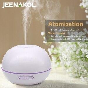 550ML Home Ultrasonic Aroma Diffuser Large Fog Volume Humidifier Desktop Silent Atomizer Remote Control Essential Oil Diffuser