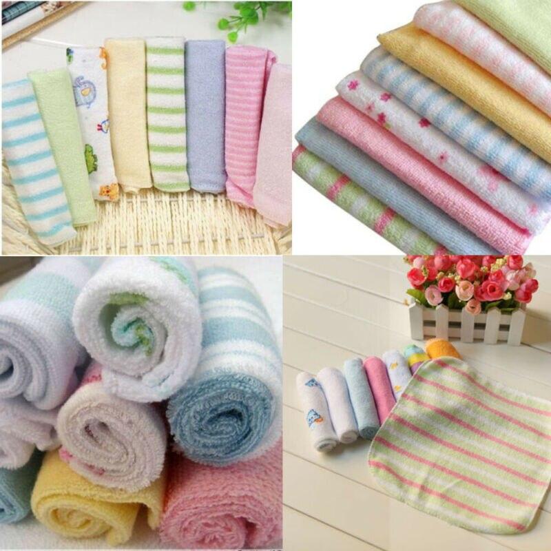 8 piezas suave bebé toalla infantil recién nacido niños toalla paño baño Baño alimentación paño suave toallas