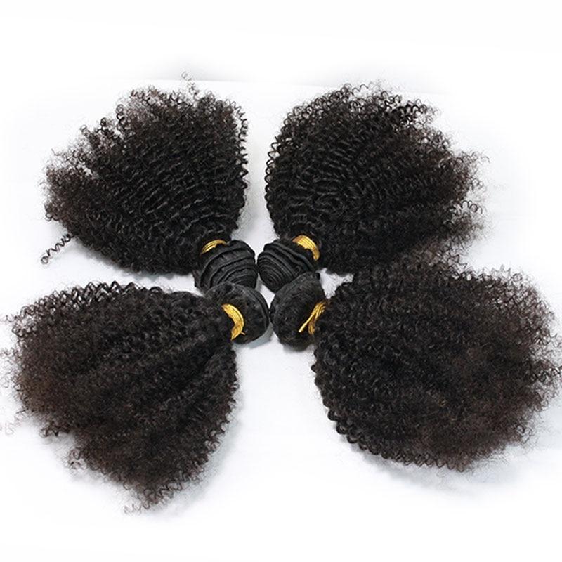 Eseewigs человеческие волосы уток афро кудрявые бразильские волосы переплетения пучки Remy 4B 4C человеческие волосы для наращивания 1 или 3 шт двой...