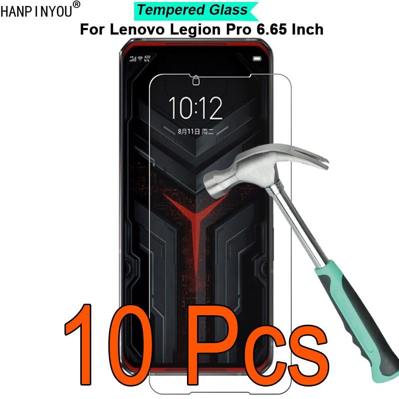 "10 sztuk/partia dla Lenovo Legion Pro 6.65 ""9H twardość 2.5D ultra-cienki hartowane szkło hartowane Screen Protector Protect Guard"