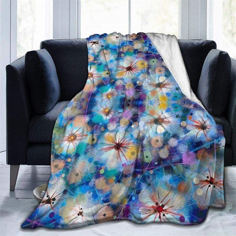اللوحة الهندباء زهرة الخردل رمي بطانية ثلاثية الأبعاد طباعة على الطلب Sherpa سوبر مريحة ل أريكة رقيقة لحاف تكييف الهواء