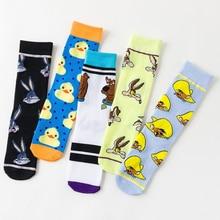 Marvel heureux chaussettes hommes Hip Hop Joker nouveauté Novedades Street Wear chaussettes folles lapin canard chat dessin animé chaussette 610w