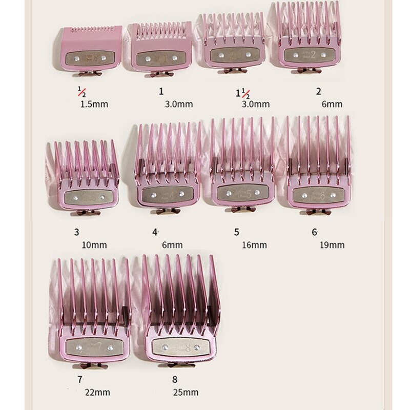 10PCS Hair Clipper Guide Comb Set for Hair Clippers Limit Combs Clipper Guards enlarge
