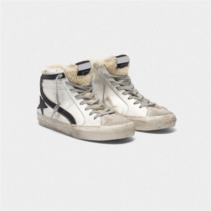 Autumn/winter New Parent-child Sports Shoes Lamb Fur Fur One Casual Non-slip Wear-resistant Children's Worn-out Sneakers QZ124