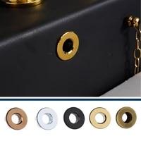 Couvercle de debordement devier trou rond  Pots devier en ceramique  Insert en cuivre  accessoire de bassin chrome  amelioration de la fixation de la salle de bains