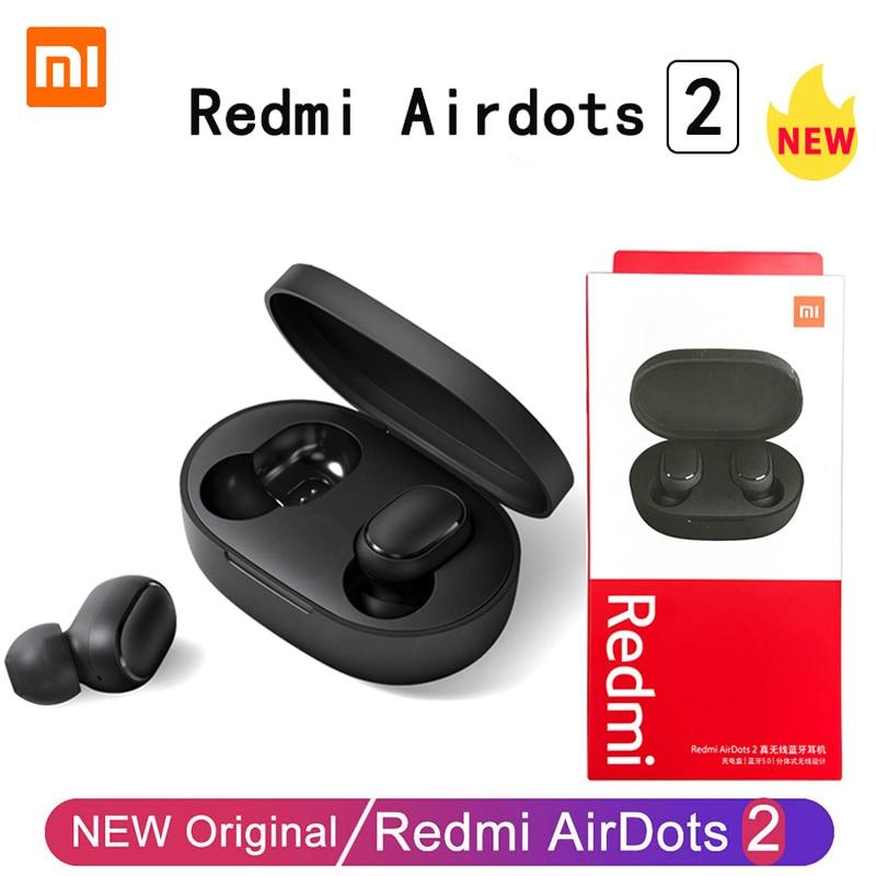Original Xiaomi Redmi Airdots 2 TWS Mi True Wireless Earphone Bluetooth Headphones Stereo Headset With Mic Bluetooth Earbuds