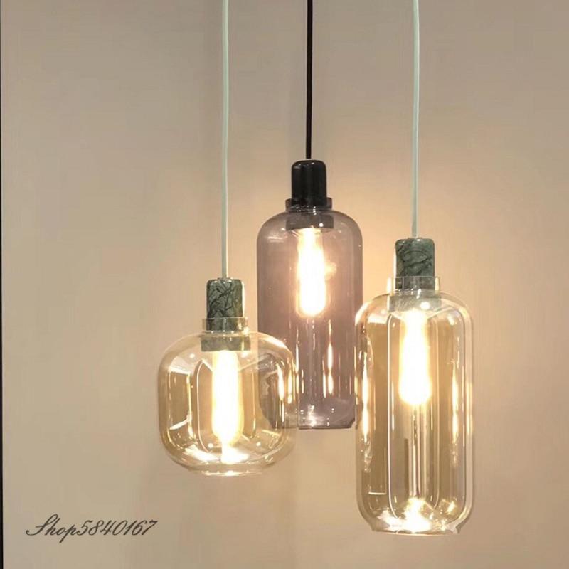 مصباح زجاجي رخامي مصمم من نورمان ، تصميم أوروبي ، إضاءة داخلية مزخرفة ، مثالي للدور العلوي أو غرفة الطعام أو المطعم.