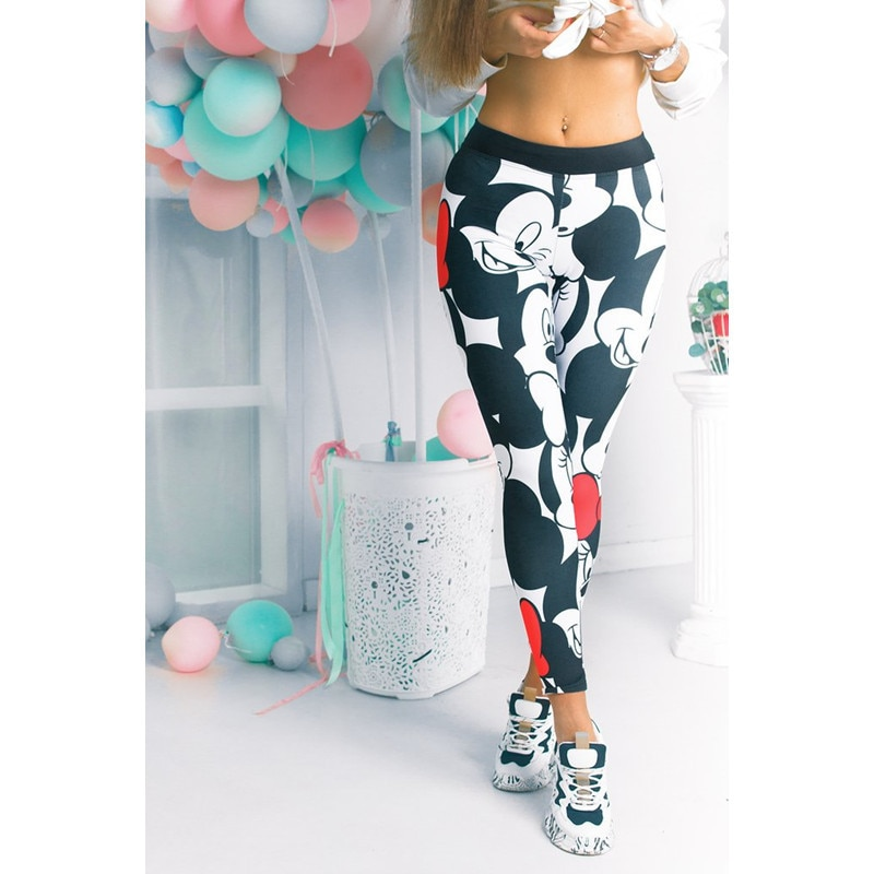 DISNEY Mickey Mouse Trousers Women Sweatpants Women Digital 3D Printed Mickey Mouse Leggings Hips High Waist Woman Pants Casual напиток безалкогольный disney mickey mouse с виноградным соком 0 75 л