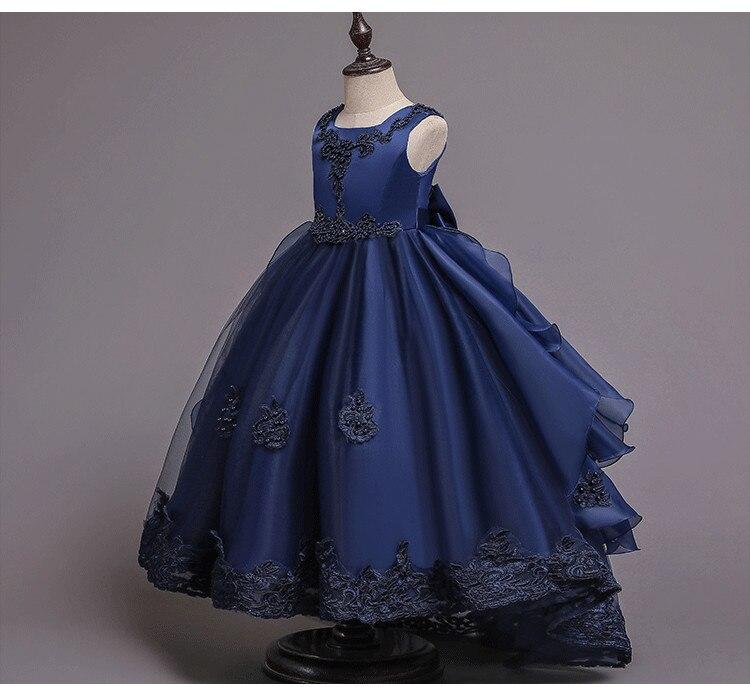 2020 nueva flor vestido de esmoquin con cuentas para fiesta de boda para niña vestido Formal de fiesta de eucharista baile de cumpleaños vestido de gama alta ropa para niños