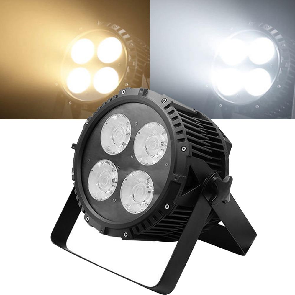 IP67 200W COB Par Light 4X50W Warm and Pure White LED Par Can Outdoor Waterproof LED Par Light Stage Disco Theater Party Light