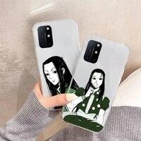 illumi zoldyck hunter x hunter phone case transparent for oneplus 7 9 8 t pro funda cover shell