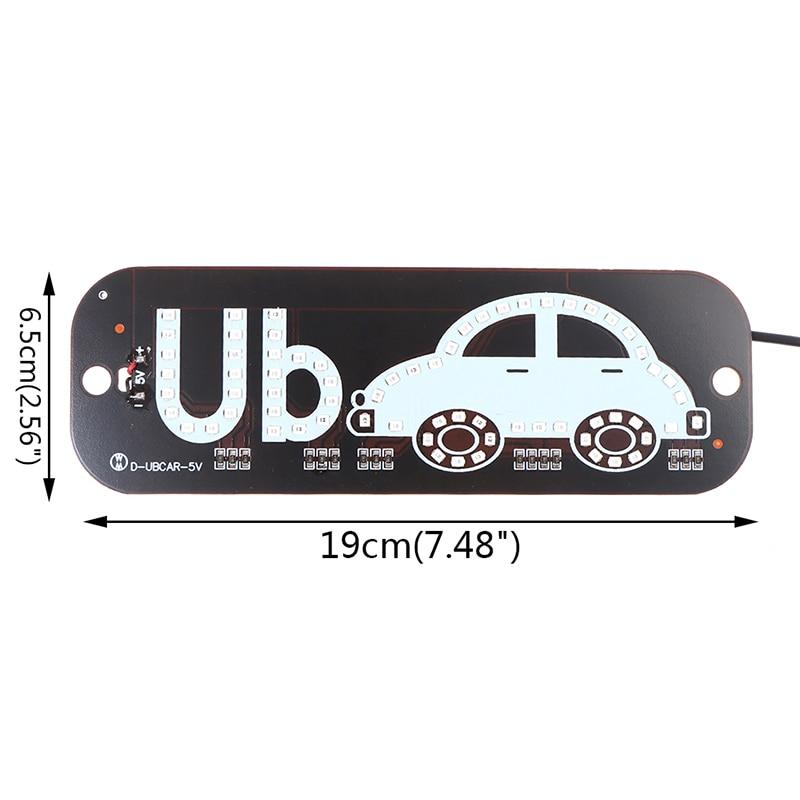 Avacom 1Pcs LED Taxi Display Signal Indicator Lights 12V LED Cab Top Sign Windshield Lamp For KIA/Lada/Hyundai/Renault/Ford/VW