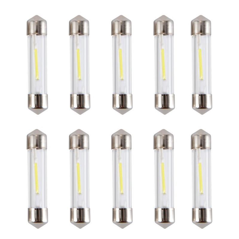 C5W LED Innen Auto Licht Leuchtmittel Kalt Weiß Lesen Kennzeichen Lampe 12V Led Glühbirne 10 PCS LED festoon Dome 36mm 31MM 41MM