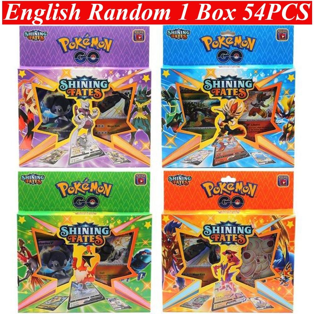 54Pcs Cards Box Pokemon Games Card English French Version Pokemon Evolving Skies Collection Card Box