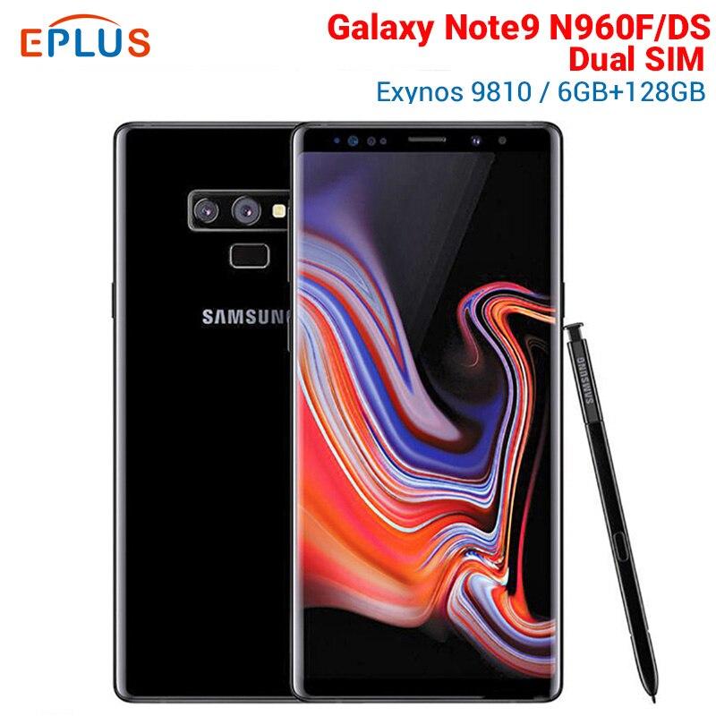 "Küresel sürüm Samsung Galaxy Note9 not 9 N960FD N960F/DS çift SIM cep telefonu Exynos 9810 6.4 ""6 GB 128GB NFC 4G Smartphone"