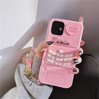 cute pink love heart kid girl gift phone case for iphone 12 11 pro max mini xr xsmax 6 7 8 plus se 2020 soft silicone back cover
