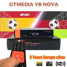 Hot sale GTmedia V8 Nova Satellite TV Receiver Built in Wifi 3 Years Europe Cline services DVB-S2 H.265 GT media V8 NOVA
