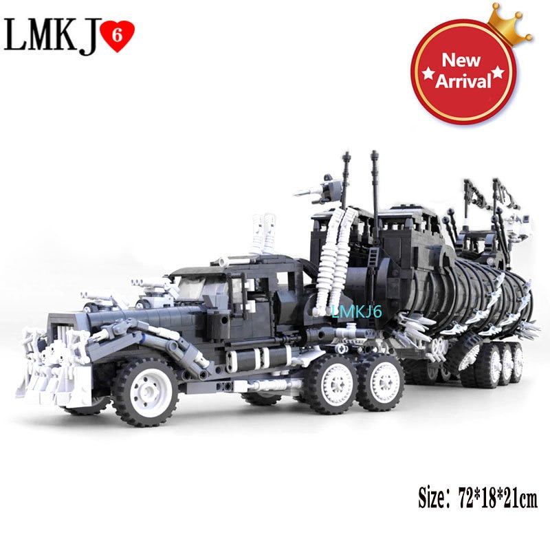 Diy Modified Truck Model Famous Movie Mad Max Series War Rig Collection Model Moc Building Blocks Kits Set Bricks Toys Boy Gifts new diagoned alley fit 75978 building blocks kits bricks classic movie series model kids diy toys for children christmas gifts