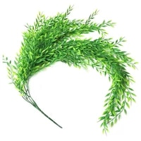 5 forks 52cm artificial rattan wall hanging willow leaf vine simulation green plant weeping wicker for home garden decoration