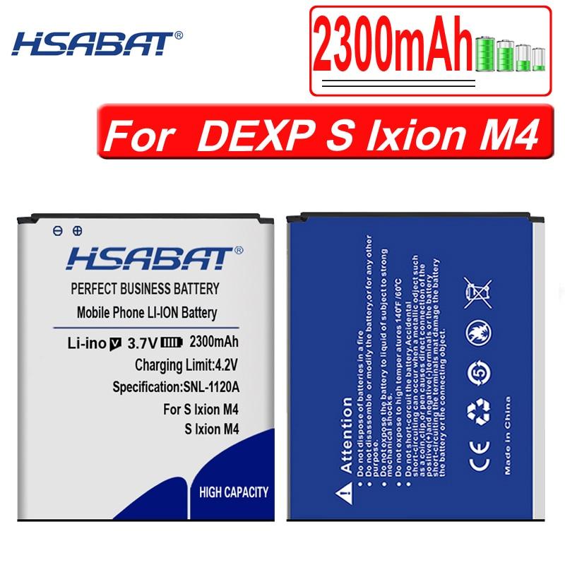 """HSABAT High Quality 2300mAh Battery for DEXP S Ixion M4"""" M 4"""" Ixion M4 Batteries"""