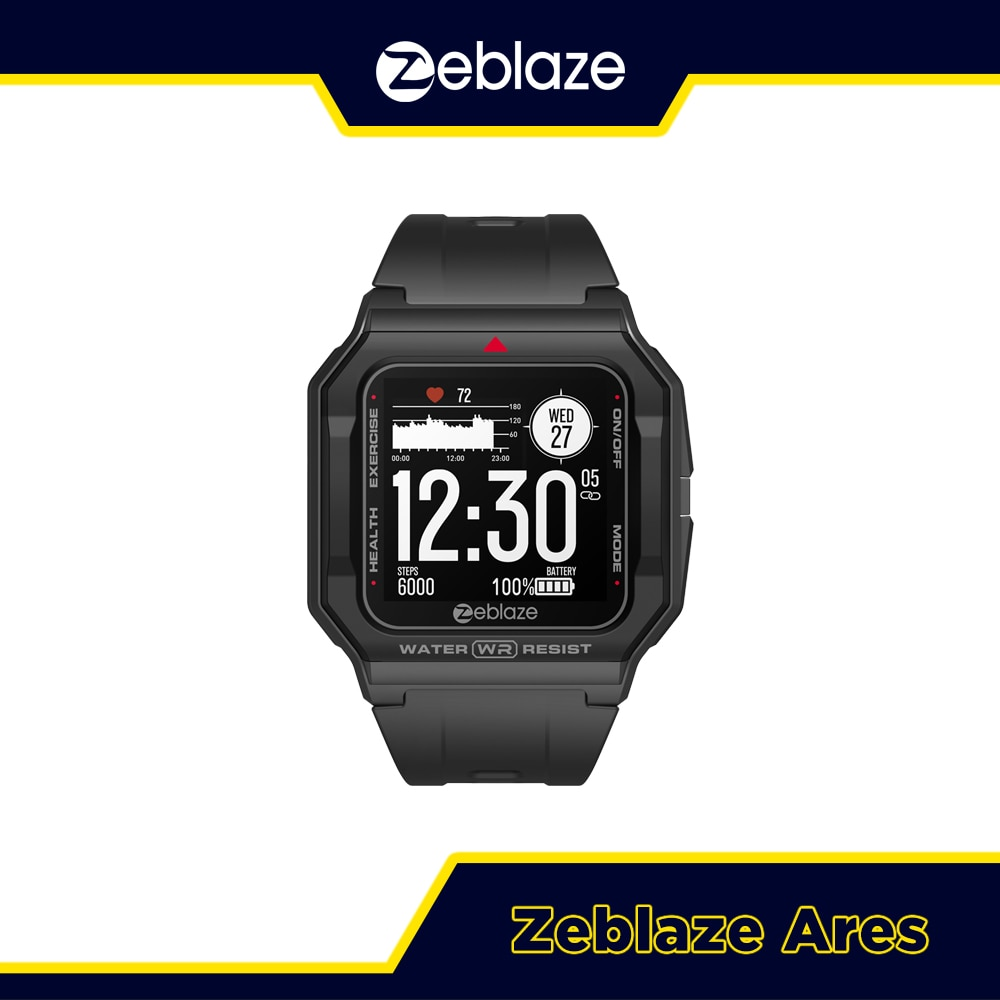 NEW 2021 Zeblaze Ares Heart Rate Tracking Smartwatch Multi Watch Face 3 ATM 15 Days Battery Life Sma