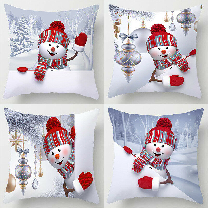 18 Christmas Cushion Cover Santa Claus Pattern Square Pillow Case Sofa Car 2019