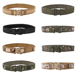 2021 New Army Style Combat Belts Quick Release Tactical Belt Fashion Men Canvas Waistband Outdoor Hunting 9Colors Optional 130cm