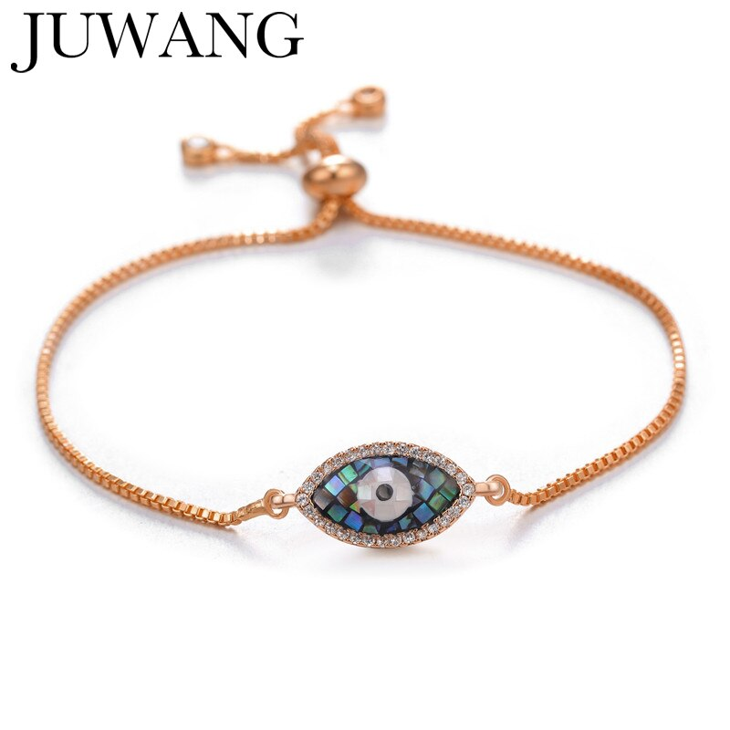 Turkish Lucky Evil Eye Bracelets for Women Girl Pave CZ Blue Eye Bracelet rose gold chain Lucky coppe Female Jewelry ojo turco
