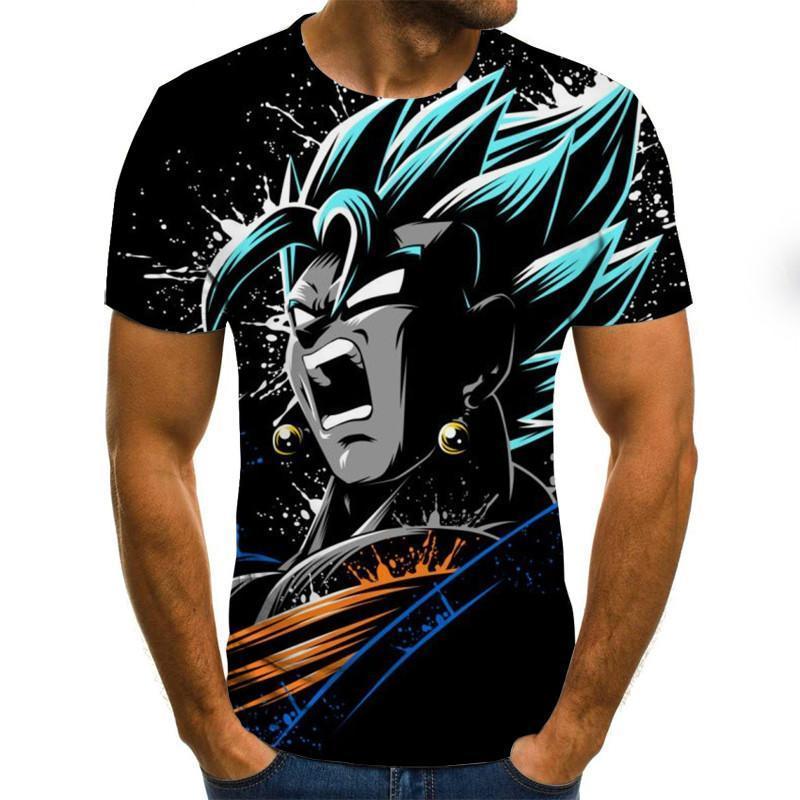 Boys 3D printed T-shirts, short-sleeved shirts, mens and womens tops, animated tops